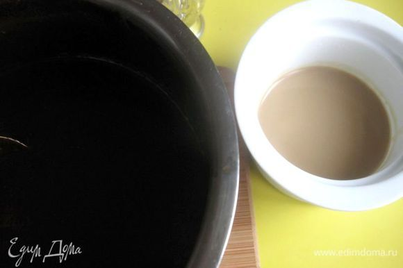 Муку просеять вместе с пекарским порошком и какао, добавить ликер, шоколадно – желтковую смесь.