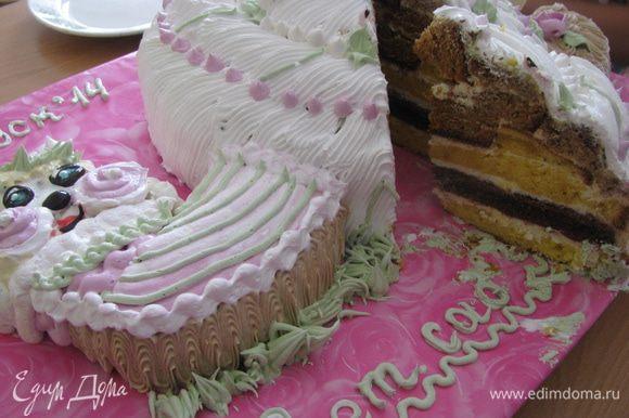 Вот такой веселый тортик!!!! И очень вкусный!!!!