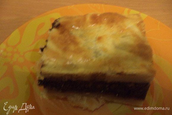 Пирог остудить в форме, затем вынуть из формы и нарезать порционными кусками. Очень вкусно с кофе!