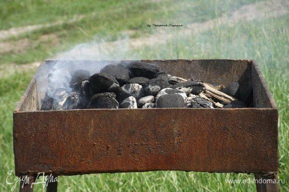Готовим угли. В этот раз у меня нет времени долго готовить грань (угли), поэтому я воспользуюсь готовыми углями.