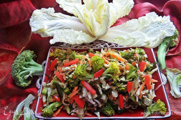 И хрустим свежими овощами и напитываемься полезными микроэлементами на здоровье.