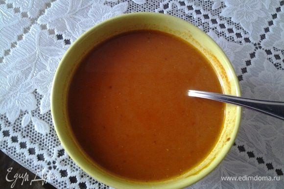 Для соуса: смешать все ингредиенты, кроме воды, хорошо перемешать, добавить воду.