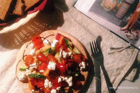 Вуаля! Наш белковый салат готов:)