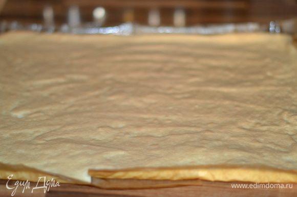 Выпекать в заранее прогретой духовке при 180 гр примерно 10 минут, до слегка золотистого цвета. Готовность проверить нажатием на бисквит пальца, если он пружинит, не проваливается, значит бисквит готов.