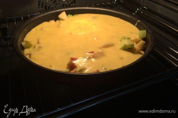 Поставить в духовку и выпекать 40 минут (190*).