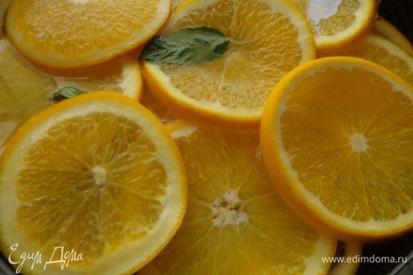 Варить апельсины примерно полтора часа. Ориентир - корочка станет прозрачной.