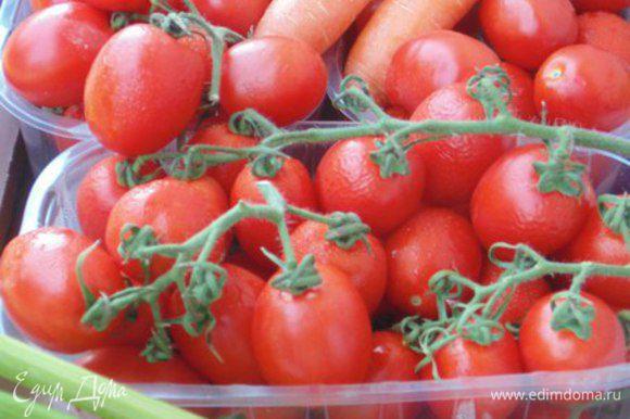 Для приготовления нужны зрелые помидоры.