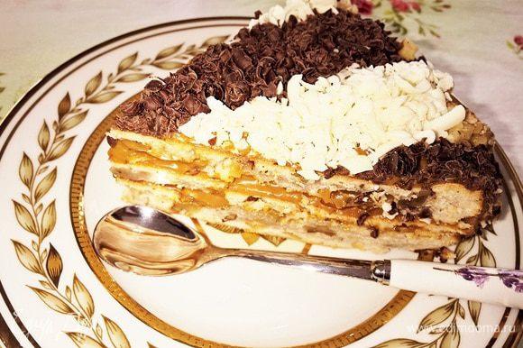 Вот такой получается десерт в разрезе. Доброго вам чаепития!
