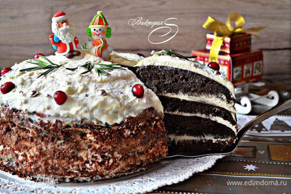 А вот и наш кусочек торта! Приятного аппетита!