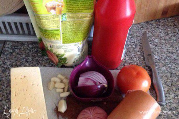 Подготавливаем все ингредиенты.
