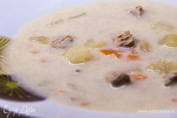 Подаем чорбу порционно горячей либо теплой. Теперь вы можете попробовать настоящую «балканскую» чорбу у себя дома и порадовать своих близких новыми вкусами. Приятного вам аппетита!