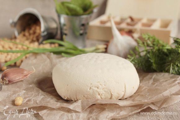 """Вот такая """"головка"""" сыра """"Тофу"""" получилась. Выход продукта составил 200 г. Будьте здоровы!"""