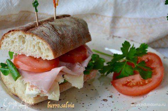 Отлично подойдет для бутербродов (так любимых итальянцами panini))), которые можно взять с собой на пикник, наполнив любыми начинками, по вкусу!