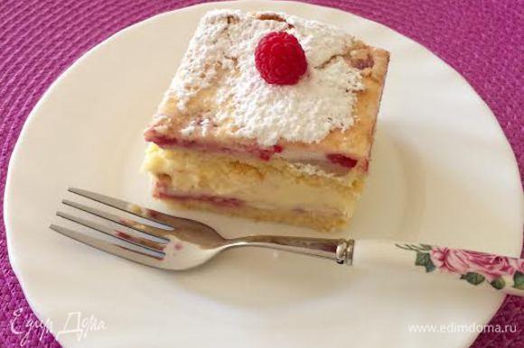 Пирожное отправить в холодильник и дать настояться. Приятного аппетита!