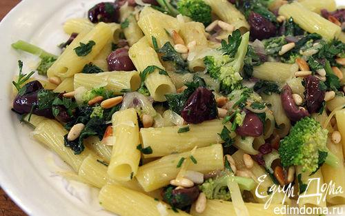 Рецепт Макароны с брокколи и шпинатом