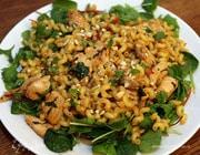 Восточный салат с курицей