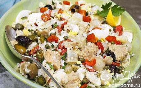 Рецепт Салат из тунца с оливками