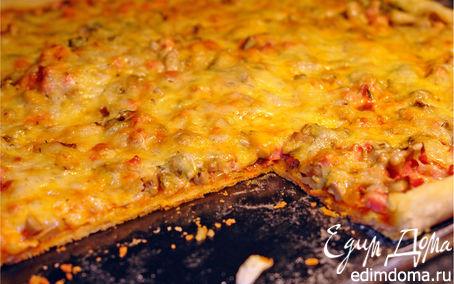Рецепт Пицца на кефирном тесте