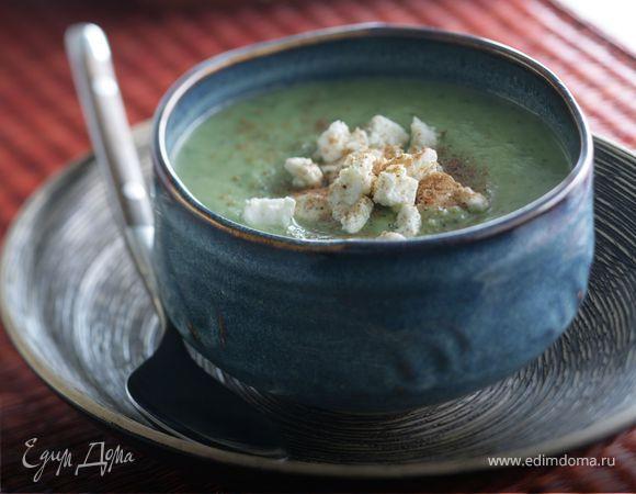 Огуречный суп-крем с фетой