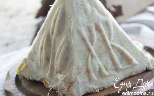 Рецепт Ванильная пасха с цукатами и миндалем