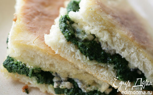 Рецепт Пышки со шпинатом