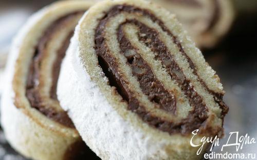 Рецепт Рулет с шоколадным кремом