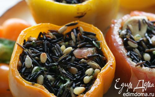 Рецепт Помидоры и перец, фаршированные диким рисом