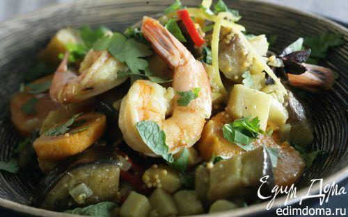 Рецепт Карри из овощей с креветками