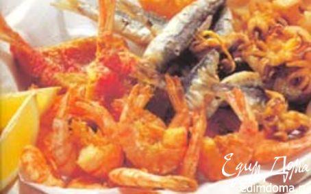 Рецепт Ассорти из жареных морепродуктов
