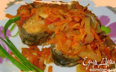 Рецепт Горбуша с маринованными овощами