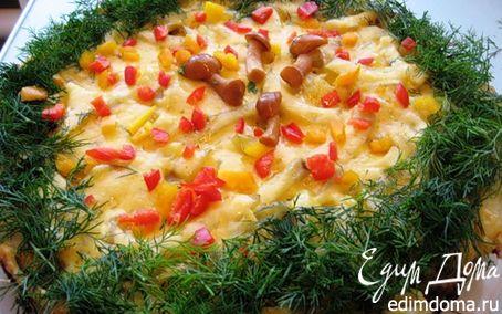 Рецепт Картофельный торт с грибами.