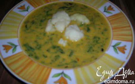 Рецепт Кокосовый суп с шафраном и шпинатом
