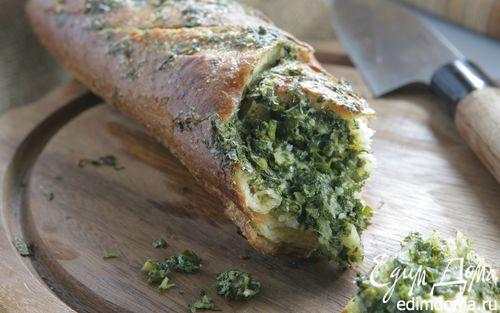 Рецепт Хлеб с пармезаном и чесноком