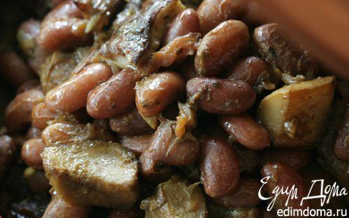 Рецепт Фасоль с белыми грибами