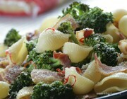 Макароны-ракушки с брокколи