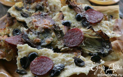 Рецепт Пицца с радиккио и моцареллой