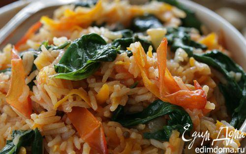 Рецепт Индийский рис со шпинатом