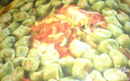 Рецепт зелёные клёцки из лосося
