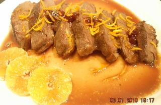 Рецепт Утиная грудка с апельсиновым соусом