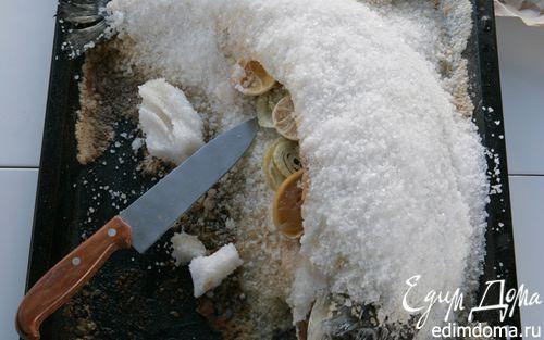 Рецепт Семга, запеченная в соли