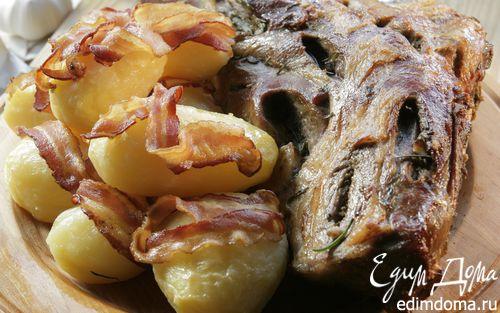 Рецепт Бараний окорок с картошкой