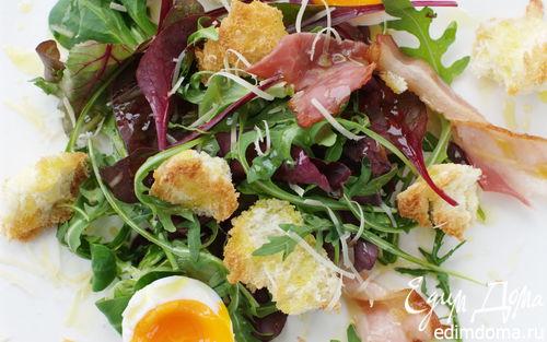 Рецепт Теплый салат с яйцом и беконом