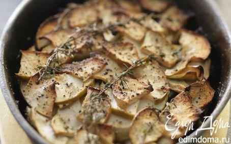 Рецепт Говядина, тушенная с яблоками