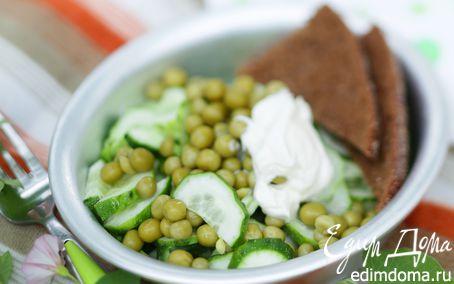 Рецепт Салат из огурцов и горошка