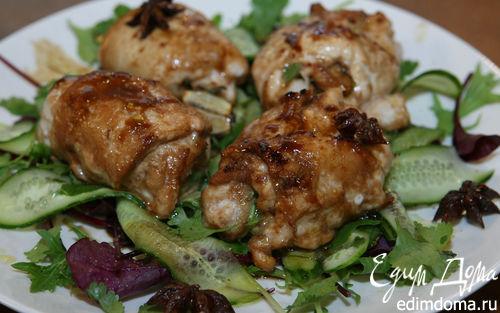 Рецепт Куриные рулетики в пряном соусе