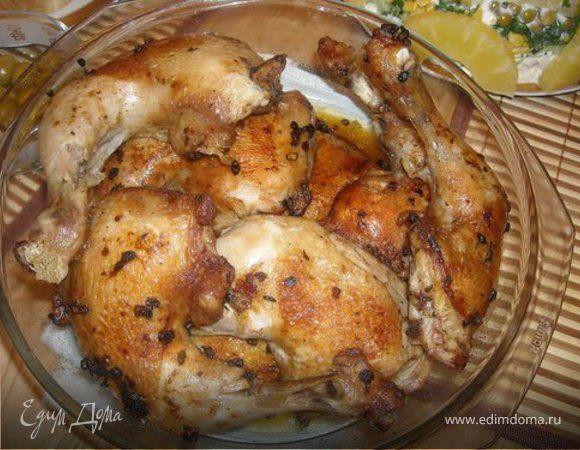 Курица маринованная со стрелками чеснока