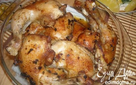 Рецепт Курица маринованная со стрелками чеснока