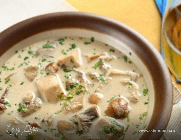 Суп гречневый с курицей и грибами