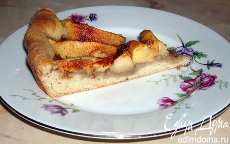 Рецепт Открытый пирог с яблоками