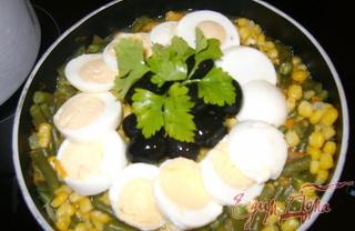 Рецепт Тёплый салат с грибами по-немецки